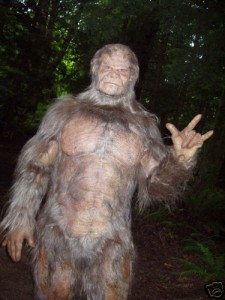 "the title character/suit from the film ""Clawed: the Legend of Sasquatch."""