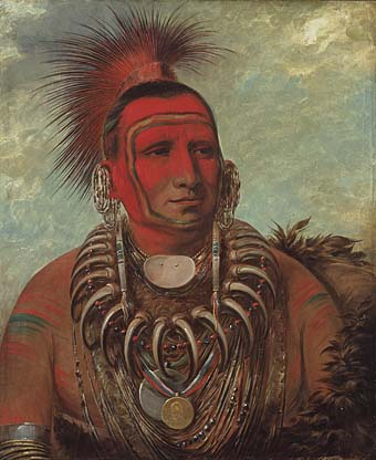 Little Wolf, Iowa warrior, by George Catlin, 1844