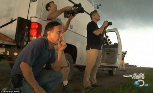 killed: Tim Samaras (kneeling), Paul Samaras, and Carl Young