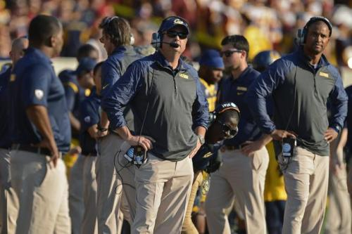 "Cal coaching staff ""hands-on-hips"" body language"